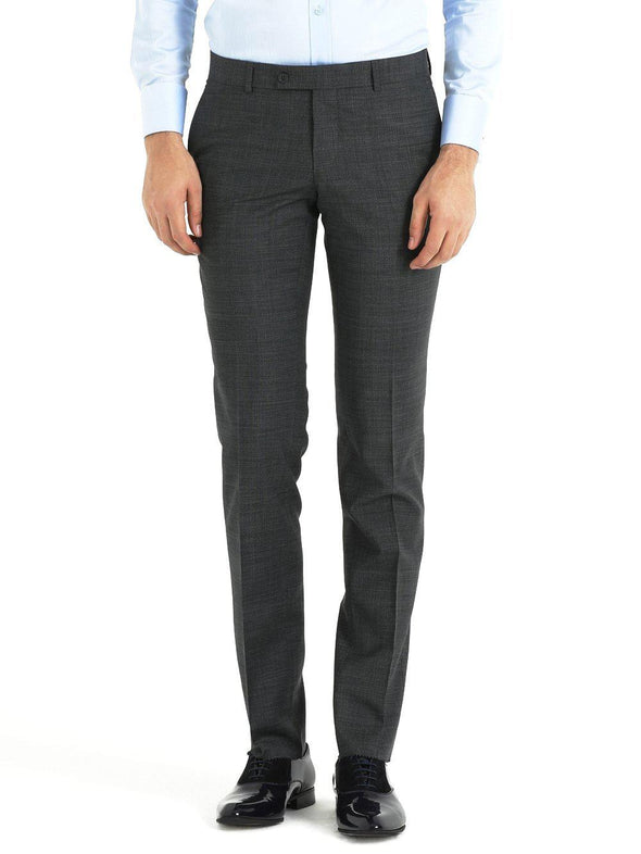 SAYKI Men's Slim Fit Wool Grey Pants