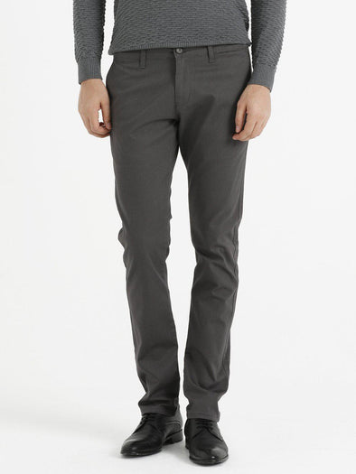 SAYKI Men's Dark Grey Canvas Pants