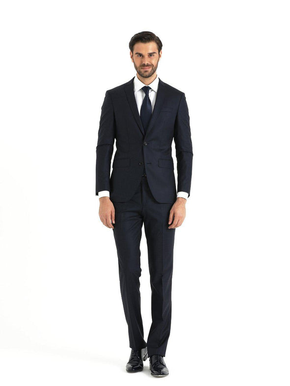 SAYKI Men's Slim Fit Single Breasted Fancy Broadway Navy Suit-SAYKI MEN'S FASHION
