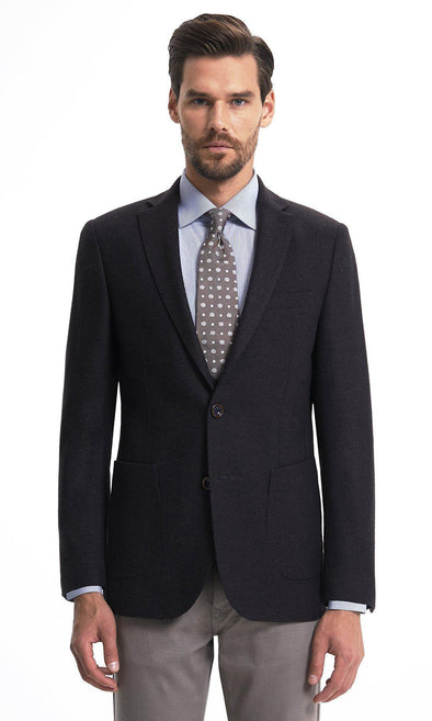 SAYKI Men's Dynamic Fit Single Breasted Brown Blazer-SAYKI MEN'S FASHION
