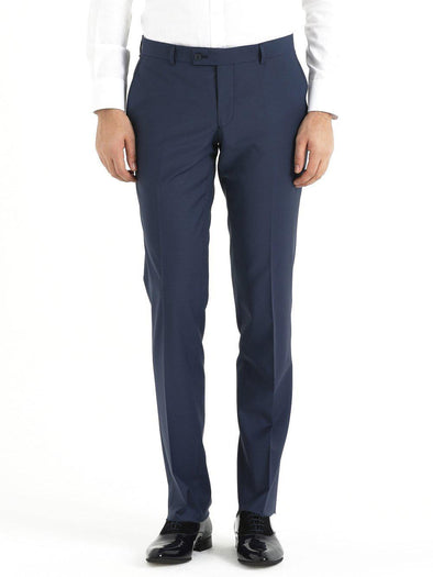 SAYKI Men's Slim Fit Navy Pants