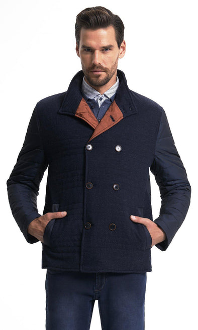 SAYKI Men's Navy Jacket-SAYKI MEN'S FASHION