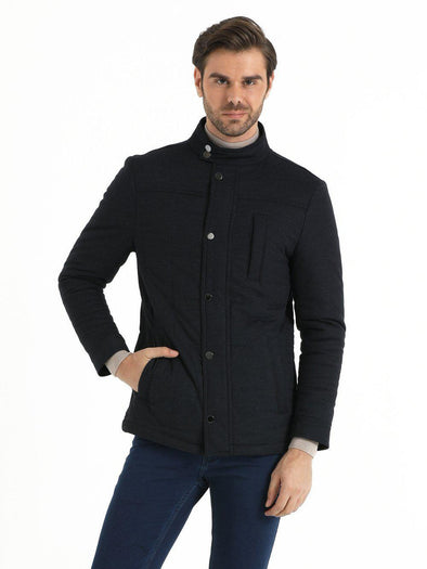 SAYKI Men's Light Navy Coat-SAYKI MEN'S FASHION