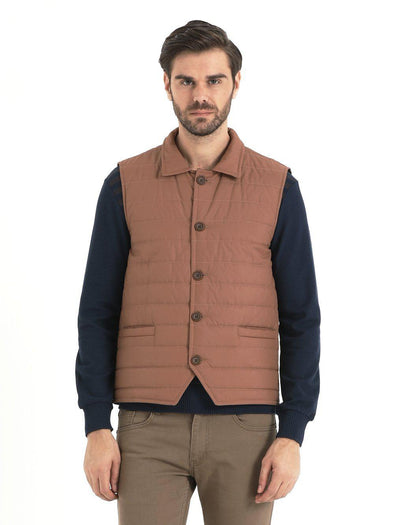 SAYKI Men's Orange Vest-SAYKI MEN'S FASHION