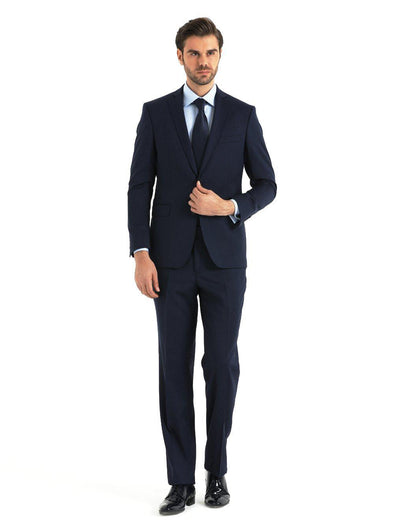 SAYKI Men's Slim Fit Navy Single Breasted Suit-SAYKI MEN'S FASHION