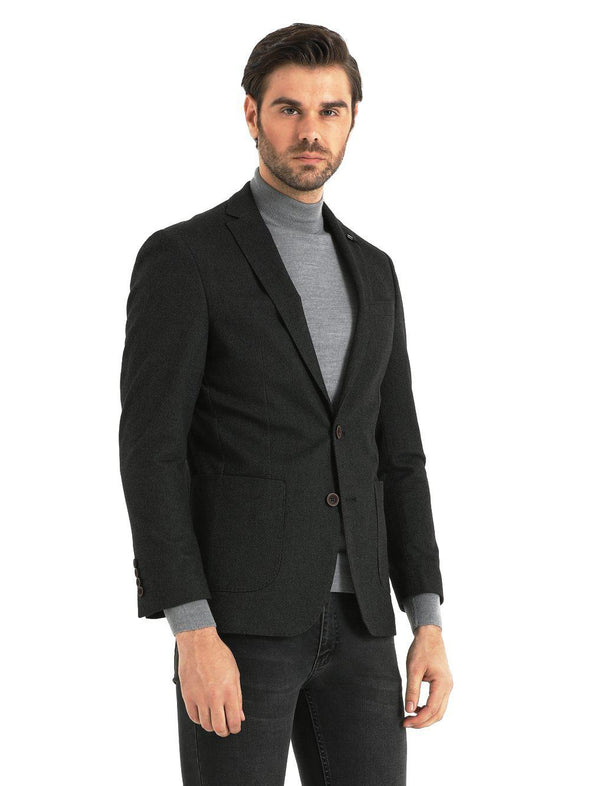 SAYKI Men's Benjamin Single Breasted Slim Fit Blazer