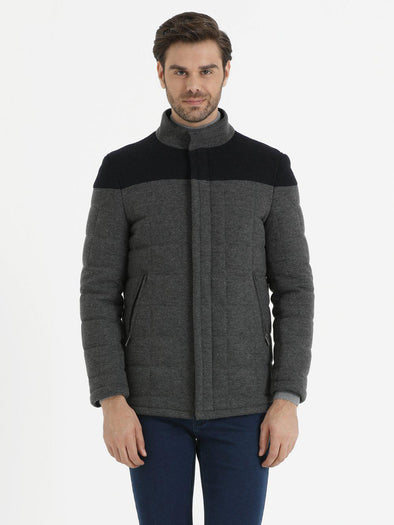 SAYKI Men's Charcoal Coat-SAYKI MEN'S FASHION
