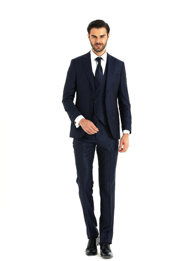 SAYKI Men's Prestige Navy Blue Suit