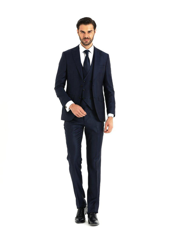 SAYKI Men's Prestige Navy Blue Suit-SAYKI MEN'S FASHION