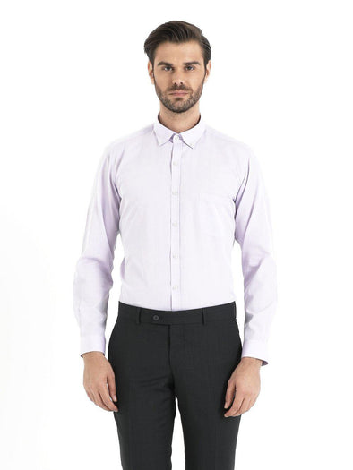 SAYKI Men's Lilac Cotton Shirt