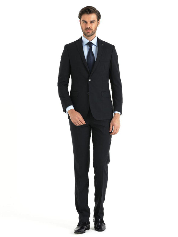 SAYKI Men's Dynamic Fit Navy Double Breasted Suit-SAYKI MEN'S FASHION