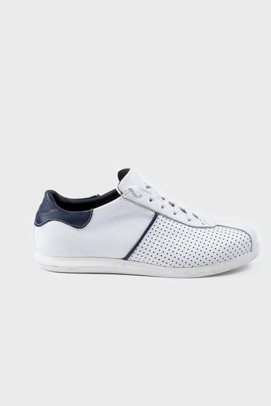 SAYKI Men's Casual White Leather Shoes