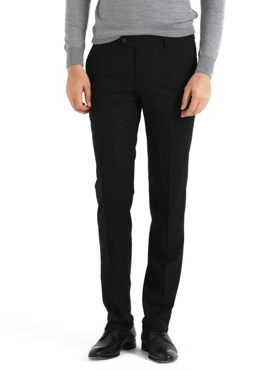 SAYKI Men's Focus Slim Fit Black Pants