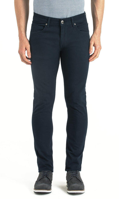 SAYKI Men's Slim Fit Navy Canvas Pants