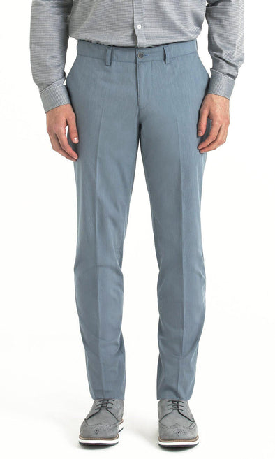 SAYKI Men's Slim Fit Blue Pants