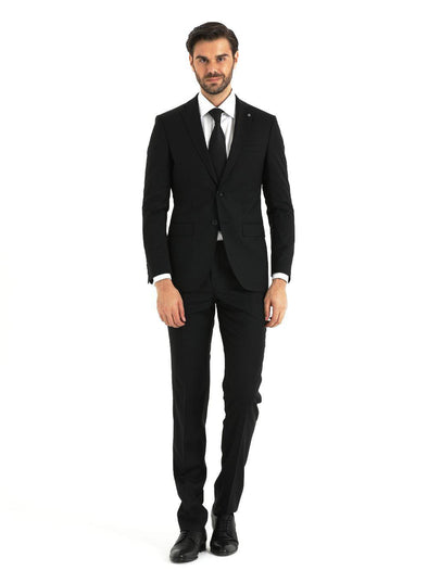 SAYKI Men's Vienna Slim Fit Single Breasted Navy Suit