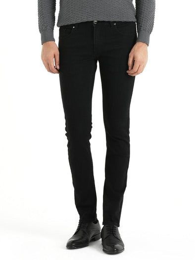 SAYKI Men's Black Slim Fit Jeans