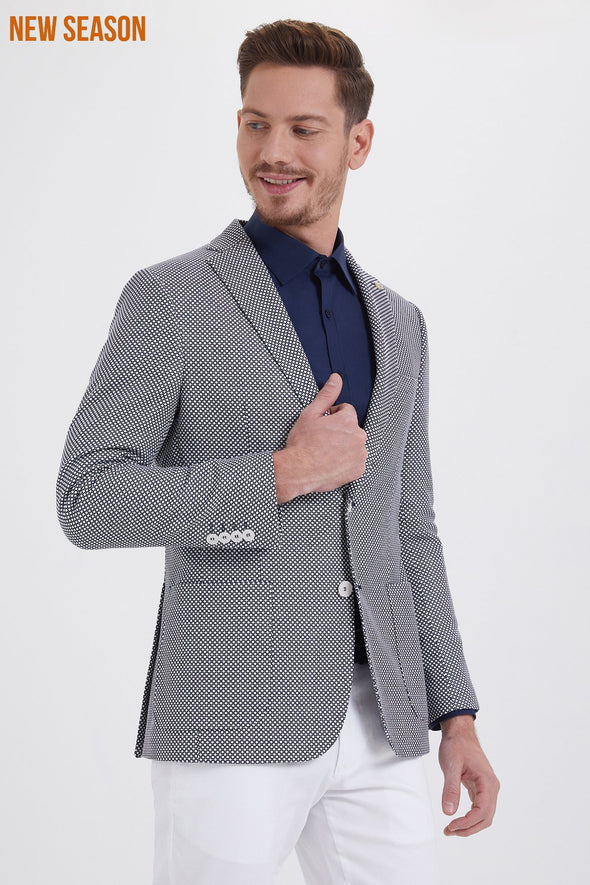 POLKA DOT SLIM FIT BLAZER
