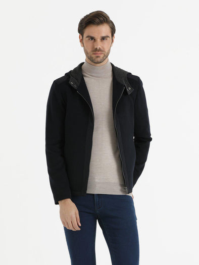 SAYKI Men's Navy Coat-SAYKI MEN'S FASHION