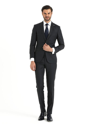SAYKI Men's Slim Fit Grey Suit-SAYKI MEN'S FASHION