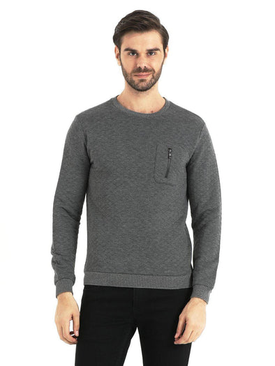 Mid Grey Crewneck Sweatshirt