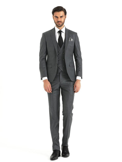 SAYKI Men's Giovanni Slim Fit Grey Suit