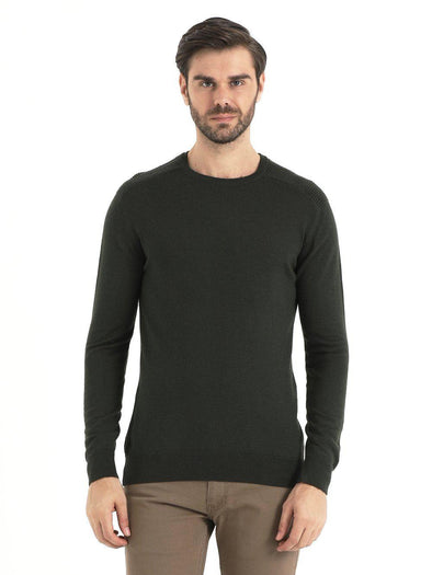 SAYKI Men's Crewneck Khaki Sweatshirt-SAYKI MEN'S FASHION