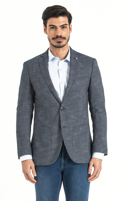 Slim Fit Light Navy Blazer