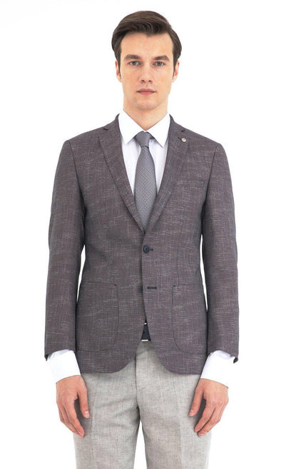 SAYKI Men's Slim Fit Double Breasted Blazer-SAYKI MEN'S FASHION