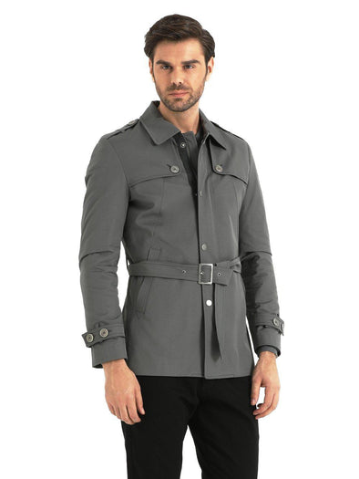 SAYKI MEN'S VILNIUS GREY OVERCOAT-SAYKI MEN'S FASHION