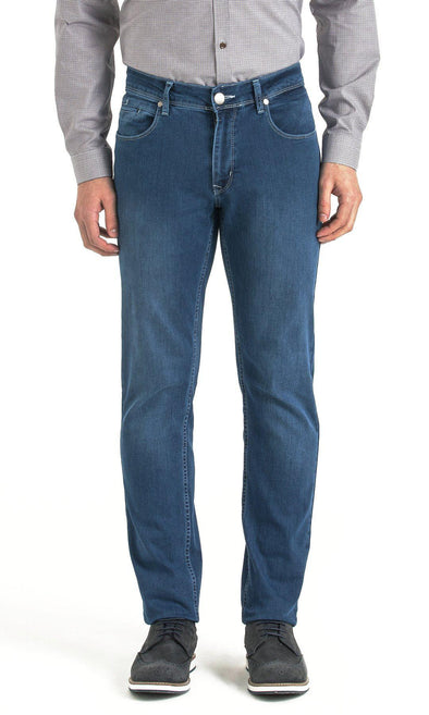 SAYKI Men's Regular Fit Light Navy Jeans