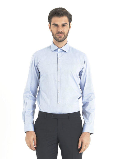 SAYKI Men's Light Blue Cotton Shirt-SAYKI MEN'S FASHION