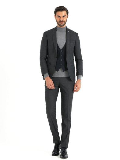 SAYKI Men's Pagba Slim Fit Grey Suit-SAYKI MEN'S FASHION