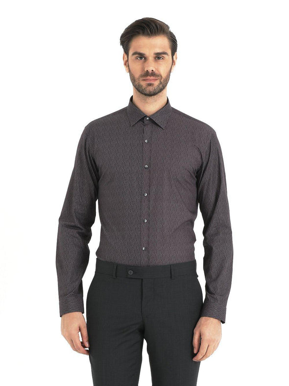 SAYKI Men's Slim Fit Purple Cotton Shirt-SAYKI MEN'S FASHION
