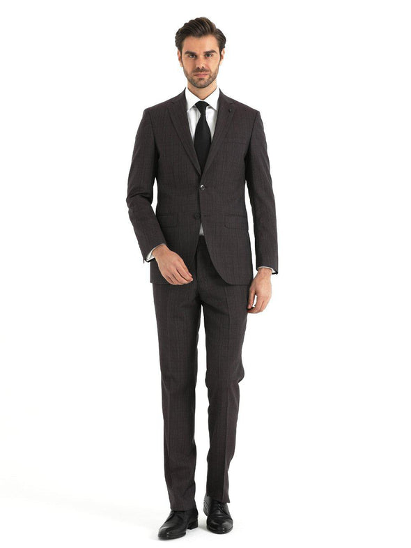 SAYKI Men's Slim Fit Long Double Breasted Wool Suit-SAYKI MEN'S FASHION