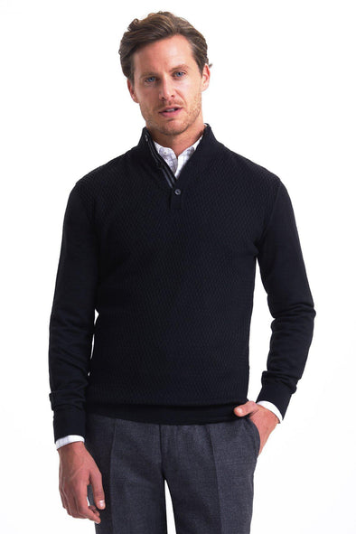 SAYKI Men's Button Down Sweater-SAYKI MEN'S FASHION