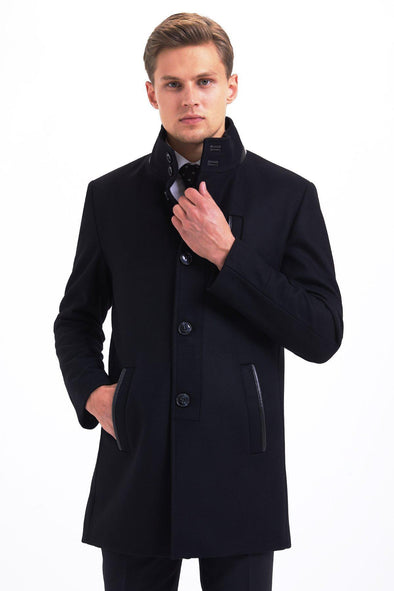 SAYKI Men's Lara Black Overcoat-SAYKI MEN'S FASHION