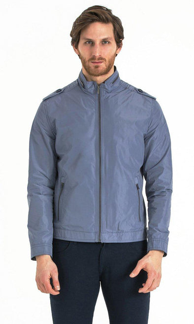SAYKI Men's Crewneck Seasonal Ice Blue Jacket-SAYKI MEN'S FASHION