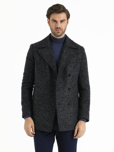 SAYKI Men's Navy Blue Coat