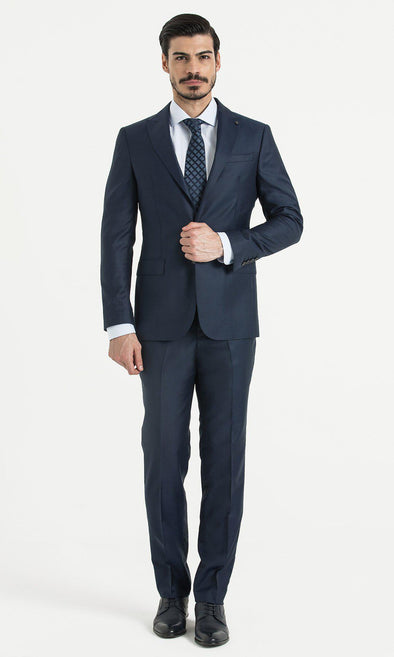 SAYKI Men's Slim Fit Single Breasted Light Navy Suit-SAYKI MEN'S FASHION
