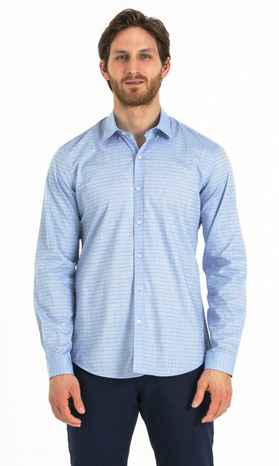SAYKI Men's Slim Fit Blue Cotton Shirt-SAYKI MEN'S FASHION