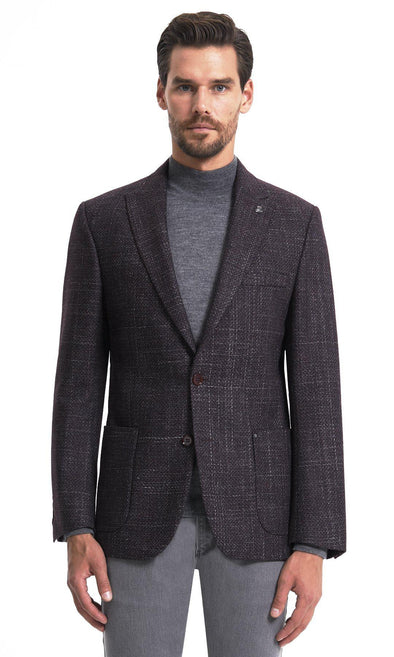 SAYKI Men's Single Breasted Dynamic Fit Blazer-SAYKI MEN'S FASHION