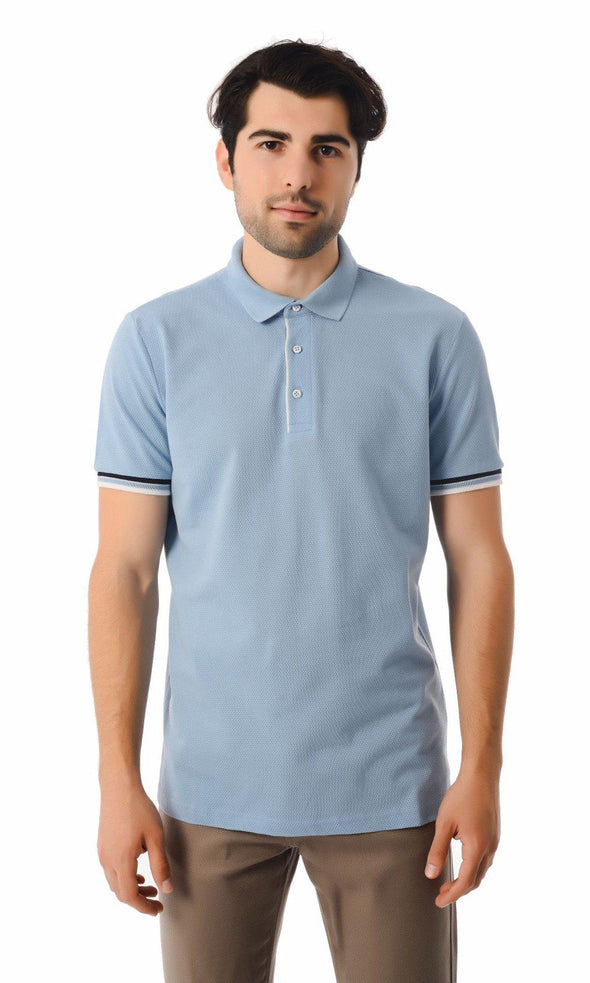 SAYKI Men's Polo Neck Cotton T-Shirt-SAYKI MEN'S FASHION