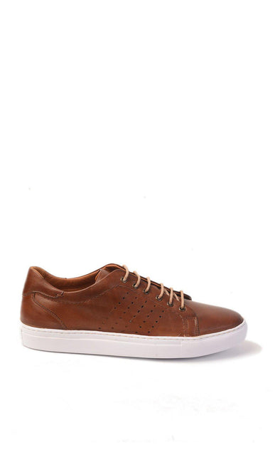 SAYKI Men's Eva Tobacco Leather Sneakers-SAYKI MEN'S FASHION