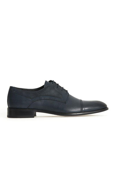 SAYKI Men's Classic Neolith Navy Leather Shoes-SAYKI MEN'S FASHION