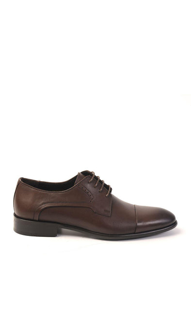 SAYKI Men's Classic Neolith Brown Leather Shoes-SAYKI MEN'S FASHION
