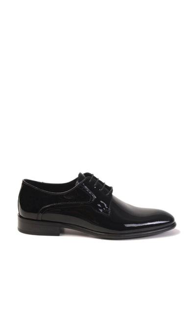 SAYKI Men's Classic Shiny Black Dress Shoes-SAYKI MEN'S FASHION