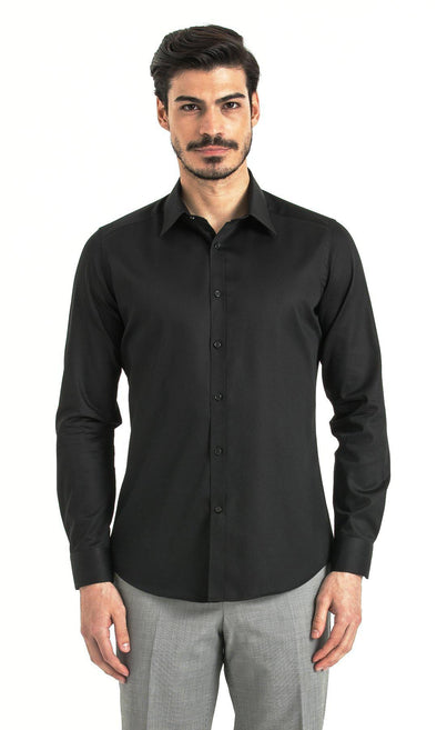 SAYKI Men's Slim Fit Black Shirt-SAYKI MEN'S FASHION