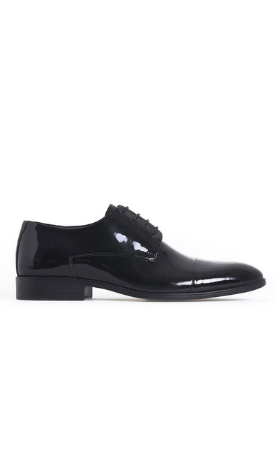 SAYKI Men's Cerimonia Classic Leather Black Shoes-SAYKI MEN'S FASHION