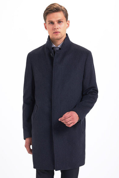 SAYKI Men's Tall Neck Overcoat-SAYKI MEN'S FASHION